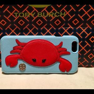 Tory Burch Blue & Red Raised Crab iPhone 6/6s Case